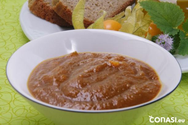 Mermelada de melocotón, hecha en la panificadora Top Edition 68415