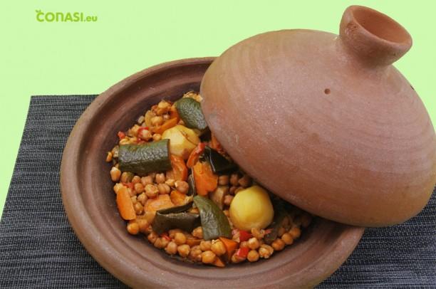 Tajine de garbanzos, plato marroquí