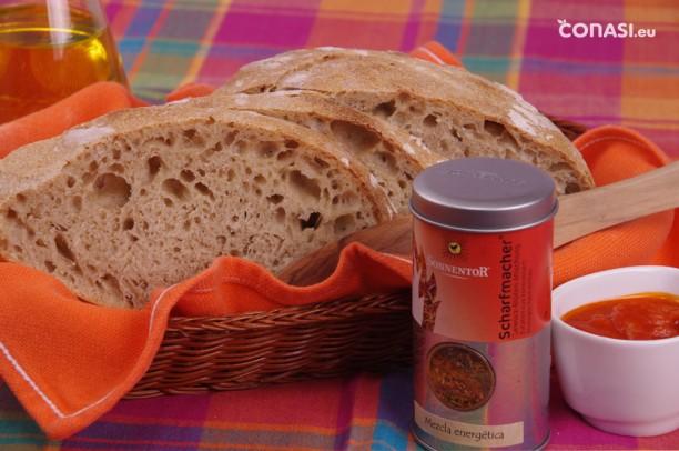 Pan horneado con piedra