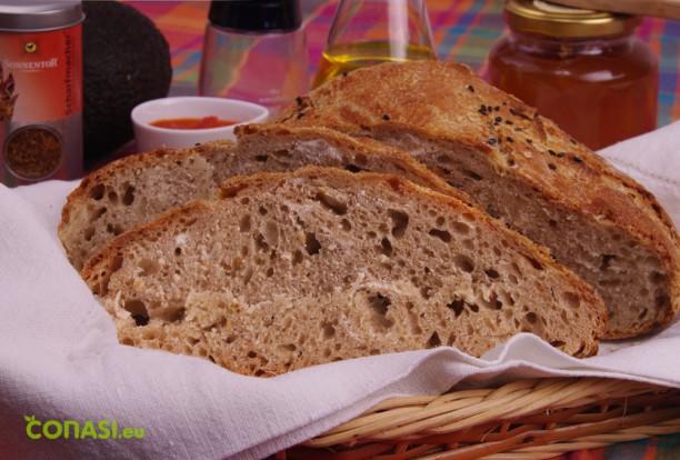 Pan horneado a la piedra