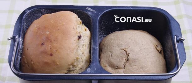 Panetonne y pan en molde doble de la panificadora Extra de Unold