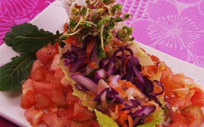 Ensalada de verduras prensadas