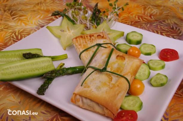 Paquetitos de verduras y pasta filo