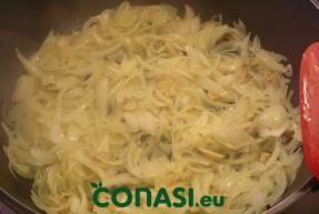 Sofriendo la cebolla