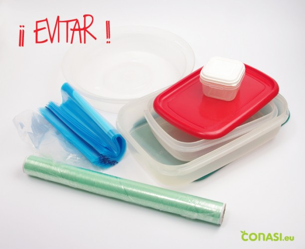 Hay que evitar los plásticos, no a los contenedores, bolsas, film, botellas de PET