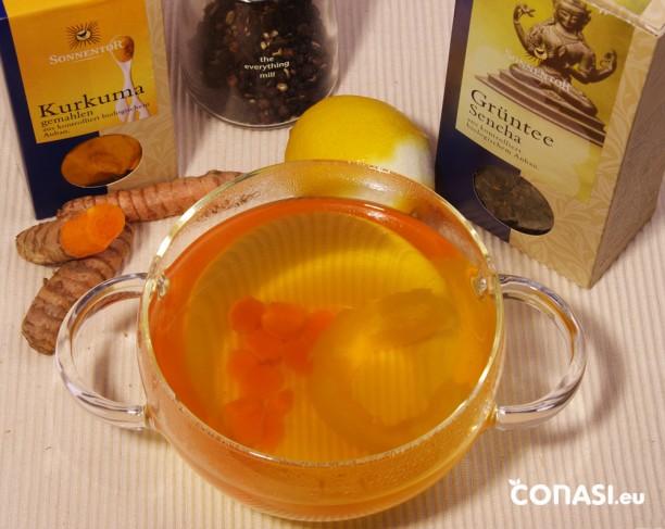 Té anticáncer con cúrcuma y limón