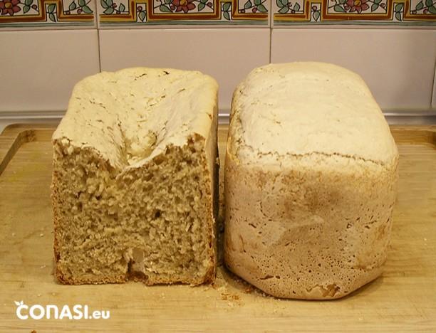 Con exceso de levadura, el pan se hunde