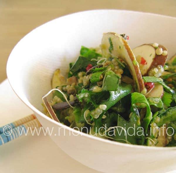 Receta de ceviche de champiñon portobello y quinoa