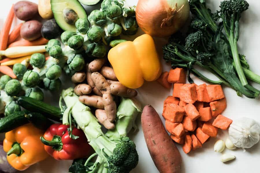 Diferentes alimentos prebióticos
