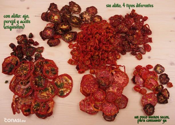 Surtido de tomates deshidratados