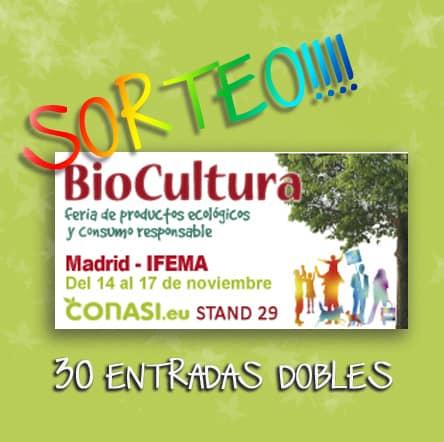 Biocultura Madrid - Sorteo de entradas