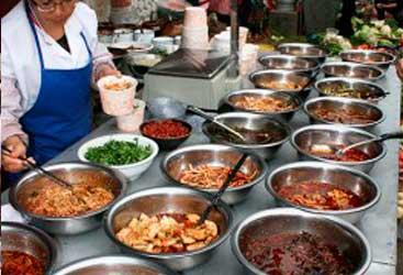 Puesto de comida en plena calle