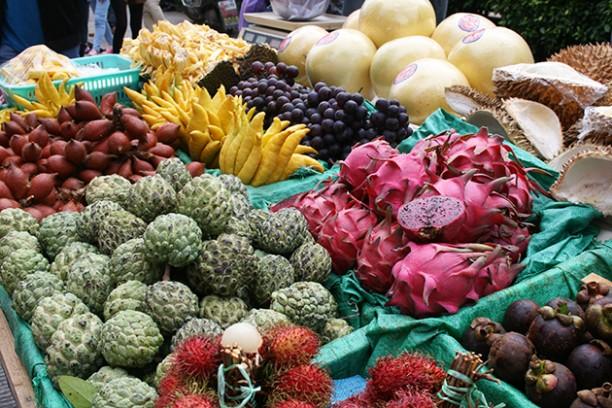Frutas y verduras chinas