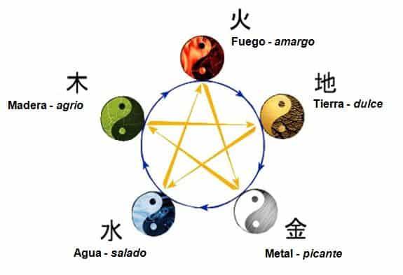 Los cinco elementos y los 5 sabores
