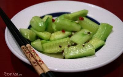 Ensalada de pepino al estilo Sichuan
