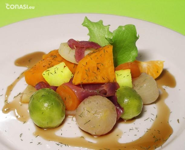Verduras con un toque afrutado