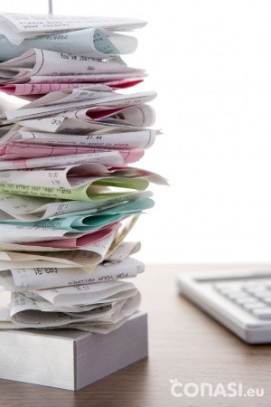 Papel térmico en los tickets de la compra