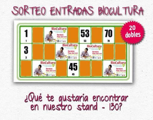 Sorteo entradas Biocultura Barcelona