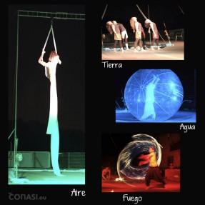 Espectáculo a los cuatro elementos