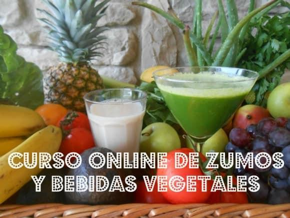Curso de zumos, batidos y leches vegetales