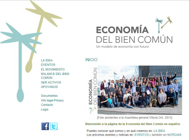 Web de Economía del bien común
