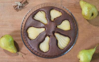 Pudin de pera y cacao