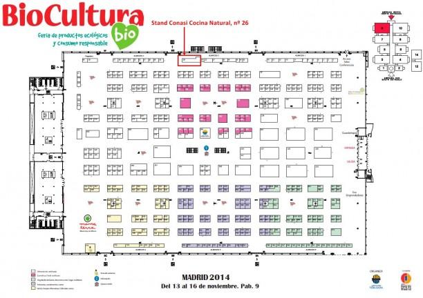 Distribución de los stands de Biocultura Madrid en IFEMA