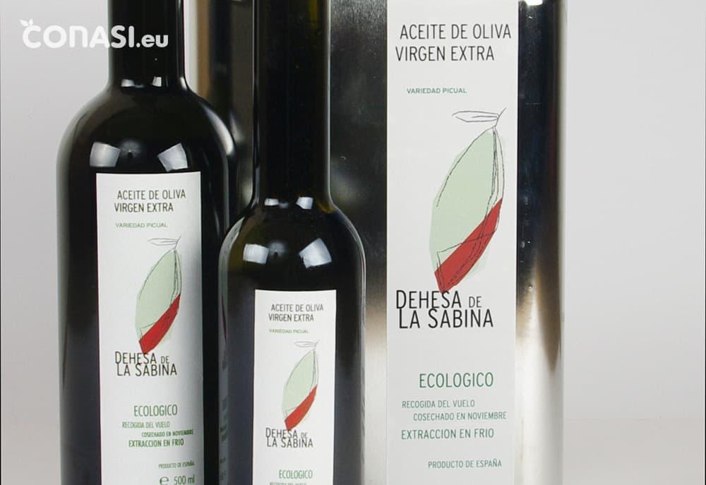 """Aceite de Oliva Virgen Extra Ecológico de presión en frío """"Dehesa de la Sabina"""". Disponible en 3 formatos"""