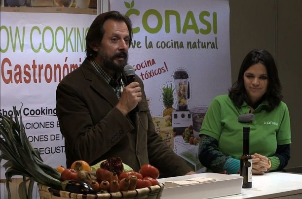 Odile y Juan Ignacio en Biocultura Madrid. Cata de aceite