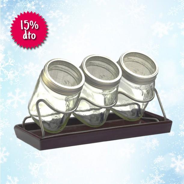 En Navidad, el germinador de 3 tarros de cristal con un 15% de descuento