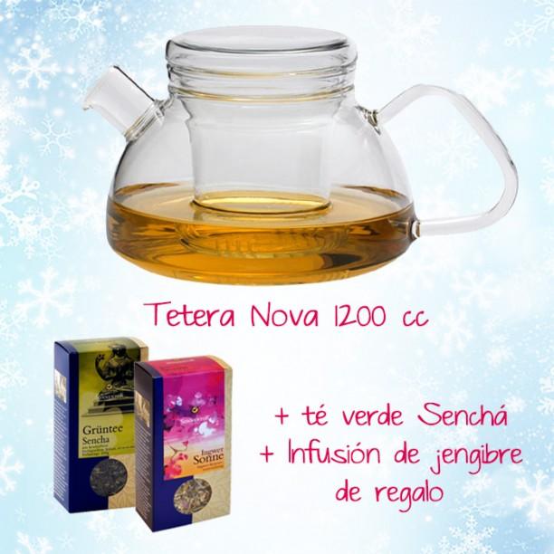 En navidad, llévate la tetera nova de 1200cc y de regalo un paquete de té y otro de infusión