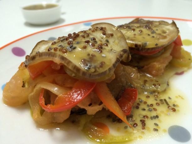 Receta de verduras asadas con una vinagreta de mostaza y semillas chía