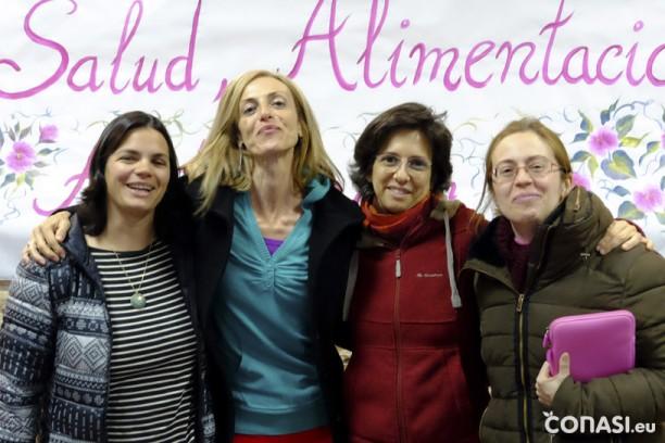 Odile, Bárbara, Marta y Ascen