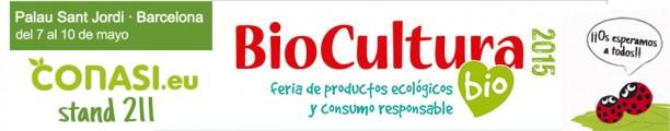 Nos vemos en Biocultura Barcelona, stand 211
