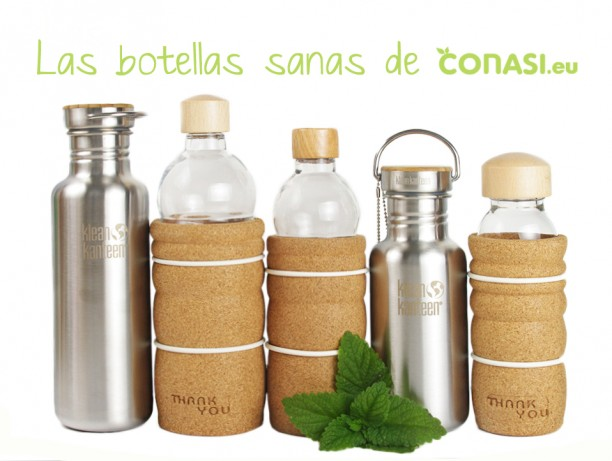 Botellas de materiales saludables
