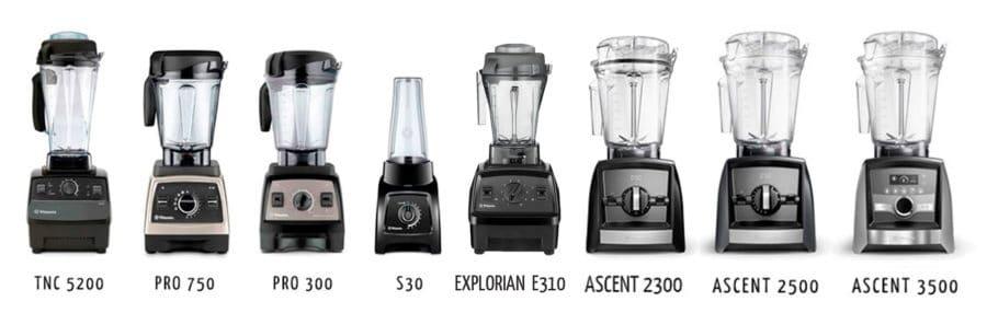 Los distintos modelos de Vitamix