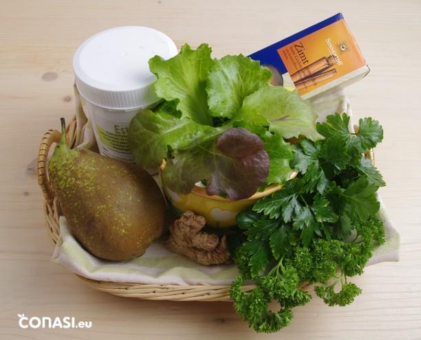 Ingredientes que hemos utilizado para preparar este batido verde SEN