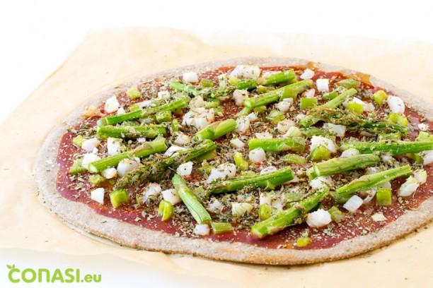 Masa de pizza casera con harinas de espelta y centeno