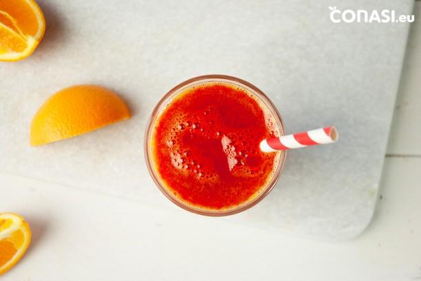Zumo energizante, ideal para desayunar. En 10 minutos listo!