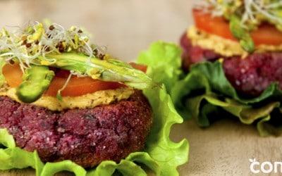 Hamburguesa vegana sin gluten