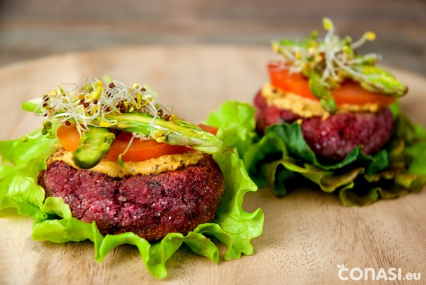 Hamburguesas veganas y sin gluten