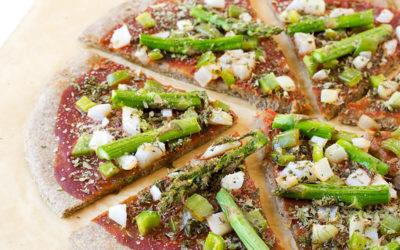 Pizza de espelta y centeno