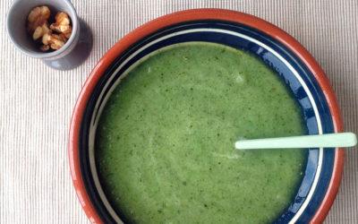 Sopa fría de melón, pepino y menta