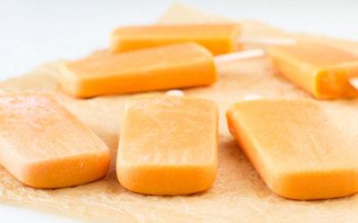 Polos de papaya y coco