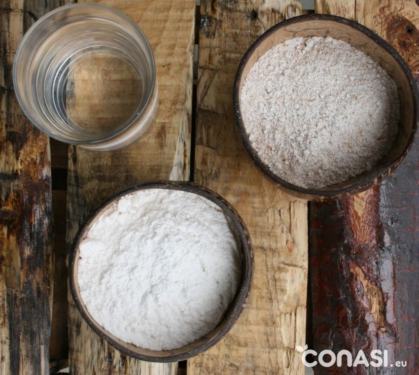 Ingredientes para hacer masa madre