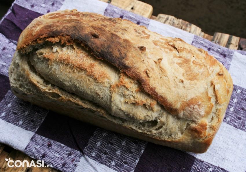 Pan hecho con levadura madre
