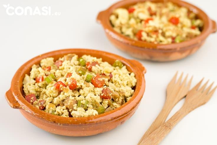 Revuelto tofu y verduras