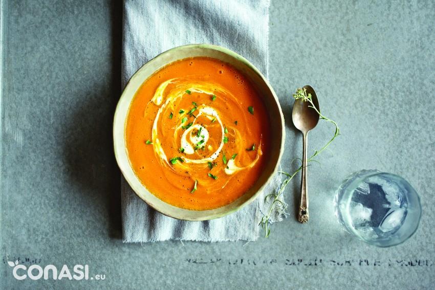 Crema de zanahoria con Vitamix