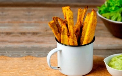Patatas de boniato al curry
