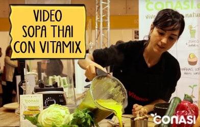 Sopa Thai con Vitamix en 5 minutos - Biocultura Madrid 2015